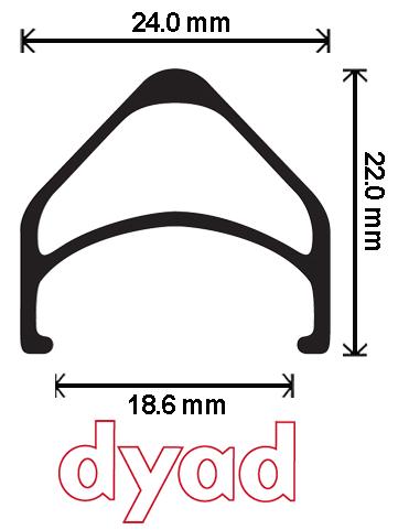 Velocity Dyad Rim 700c 48h non-MSW Black