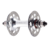 Track Hub Front - Silver